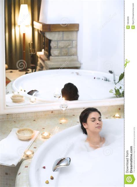 bath   whirlpool hot tub jacuzzi royalty  stock