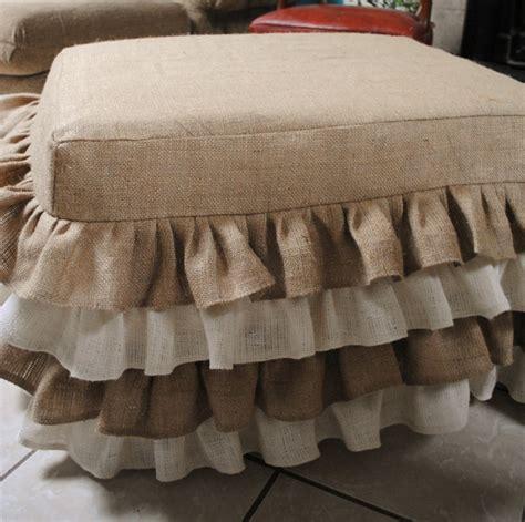 burlap ottoman slipcover 1000 ideas about burlap furniture on pinterest burlap