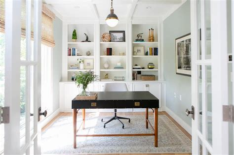 floor to ceiling bookcase with desk home office with wall of built in bookcase transitional