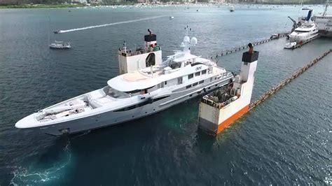 yacht transport boat great aerial footage of dyt vessel super servant 4 s float
