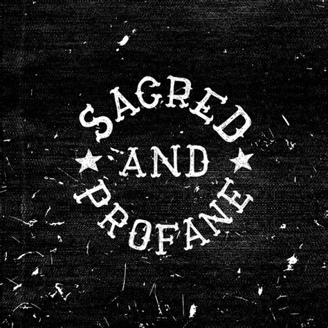Sacred And Profane sacred and profane button design kris johnsen