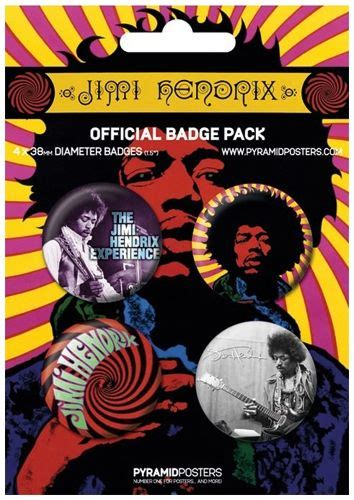 Kaos Fangkeh Big And Jimi Voodoo Child Psychedelic Rock pack de 4 badges jimi psychedelic badges rock a gogo