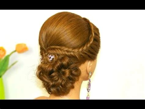 easy prom hairstyle for hair bridal updo
