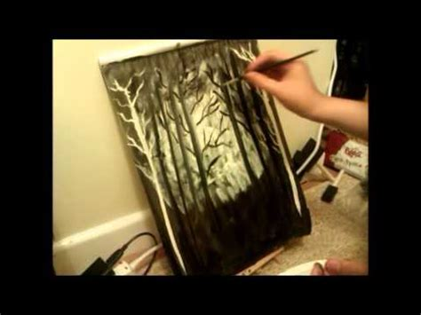 bob ross painting on black gesso gesso painting inspired by bob ross