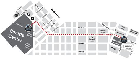 seattle map monorail route info seattle monorail