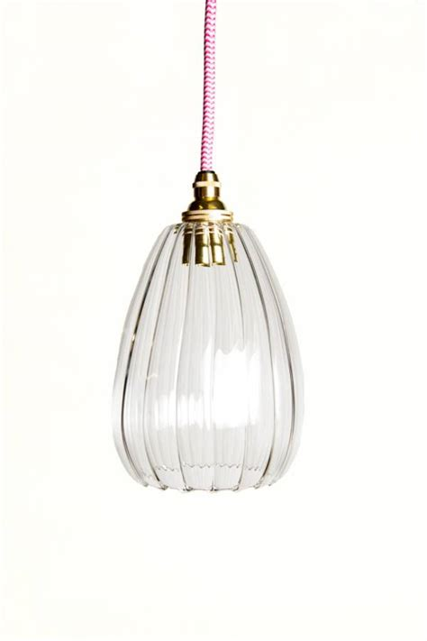 Handmade Glass Pendant Lights - molly handmade ribbed glass pendant light by glow lighting