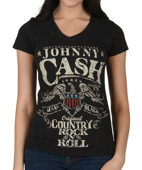 Country T Shirts Womens Johnny Country Rock N Roll T Shirt