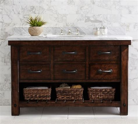 pottery barn sink console benchwright single wide sink console pottery barn
