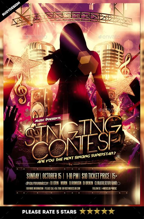 singing contest flyer  rudydesign graphicriver