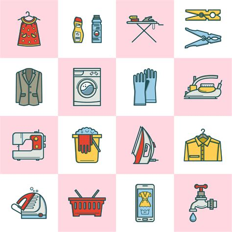 design laundry room online free free laundry room linear icons free design resources