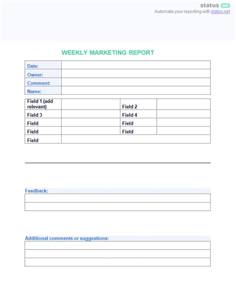 marketing weekly report template choice image templates
