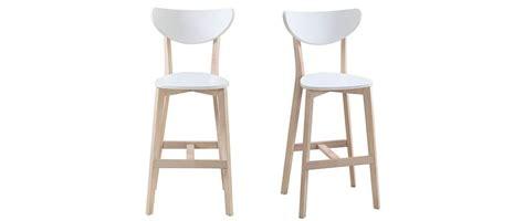 scandinavian bar stools uk leena set of 2 scandinavian wooden and white bar stools