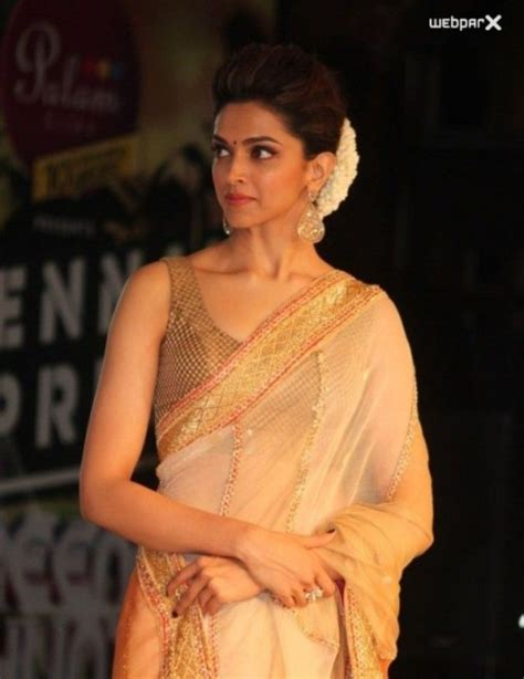 deepika hairstyles in saree deepika padukone at store launch hairstyles pinterest