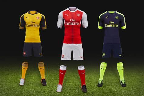 arsenal new kit puma debuts arsenal s new away and third kits hypebeast