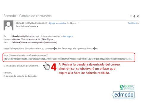 edmodo email edmodo c 243 mo recuperar contrase 241 as docentes