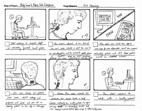 6 Storyboard Design Sletemplatess Sletemplatess Ux Storyboard Template