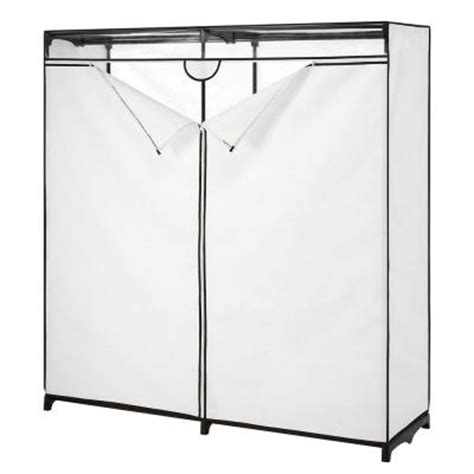 Closet Racks Home Depot by 60 In Wide Clothes Closet Garment Rack With Cover