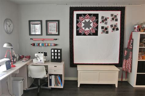 Wall For Sewing Room by A Bit Biased Sew Inspiring Rooms Bitty Bits And
