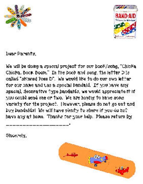 Kinder Fundraising Letter sle letter asking parents for school supplies back to