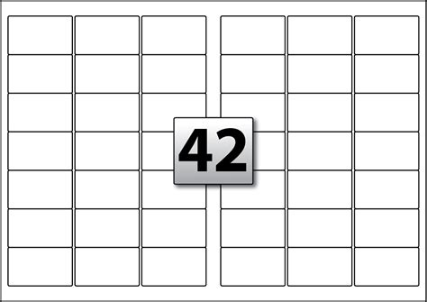 52 Labels Per Sheet Template by 42 Rectangle Labels Per A3 Sheet 63 5 Mm X 38 1 Mm Flexi