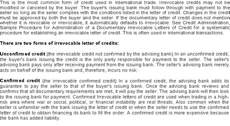 Letter Of Credit Financial Instrument Financial Instruments