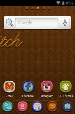 themes android stitch stitch android theme for go launcher androidlooks com