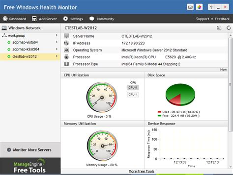 server health report template outil gratuit de surveillance de windows maxi 20 serveurs