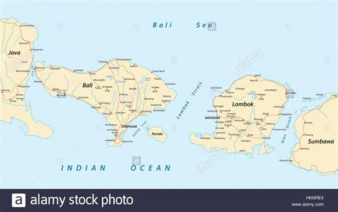 printable road map of bali vector road map of indonesian lesser sunda islands bali