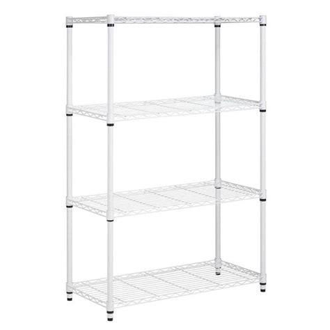 Hdx 4 Shelf 15 In D X 28 In W X 52 In H White Plastic Home Depot Plastic Shelves