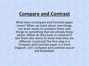how do you start a compare and contrast essay compare and contrast