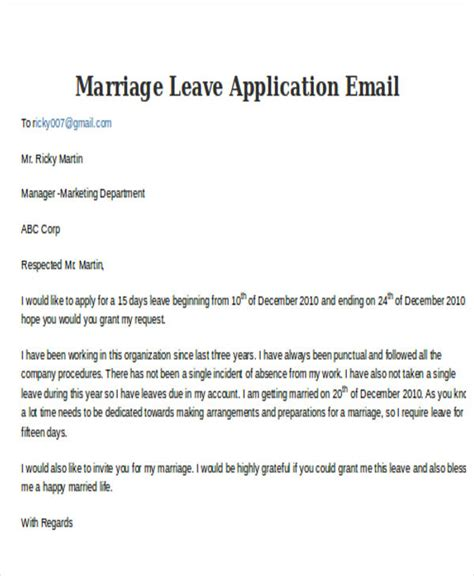Email Format For Leave Request To Manager | 5 leave application e mail templates free psd eps ai