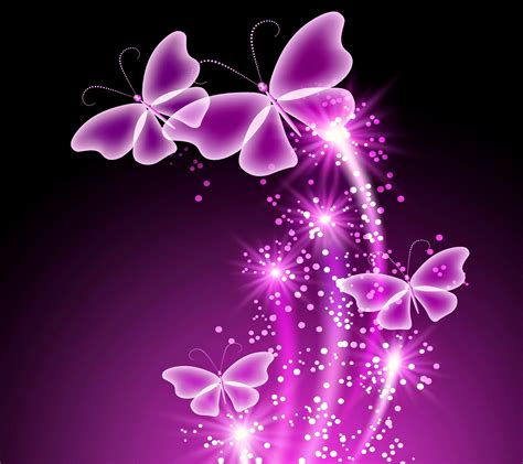 imagenes de mariposas que brillen neon butterflies desktop background wallpaper free