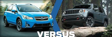 2016 subaru crosstrek vs jeep renegade model comparison