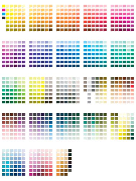 Free Online Resume Templates For Word by Pantone Color Chart Template 5 Free Templates In Pdf