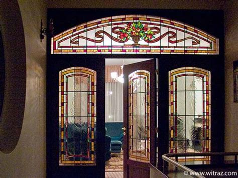 glass inlay front doors door nouveau style stained glass inlay with the