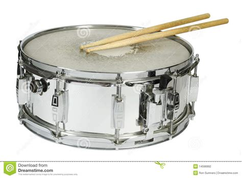 drum with snare drum and sticks isolated stock photo image 14596892