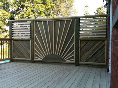 Deck Screen Wall - deck privacy wall privacy screens built by flann fence