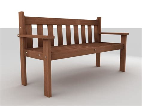 bench model bench model turbosquid 980361