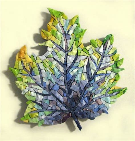 mosaic pattern on leaves 131 best mosaics trees images on pinterest mosaic