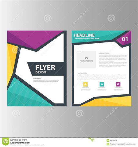 green presentation template annual report brochure flyer