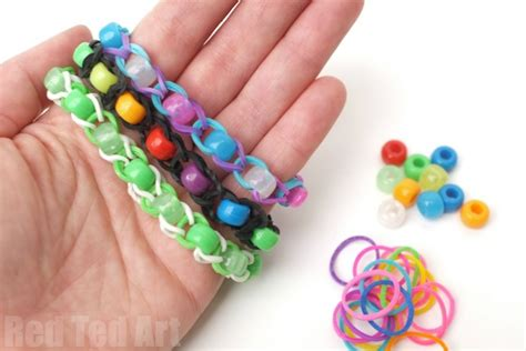 pony bead crafts pony bead loom band patterns finger looming ted