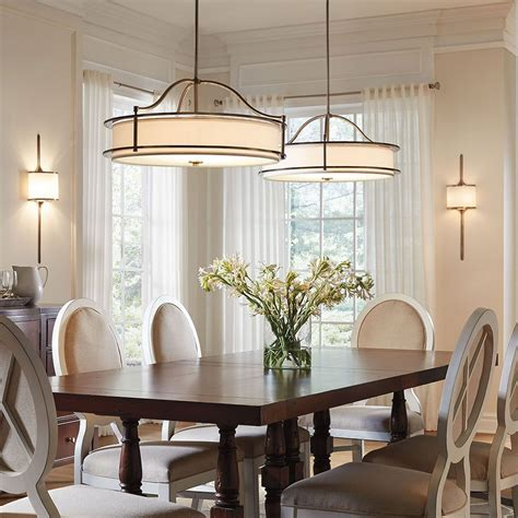 Lights Dining Room Drum Lighting For Dining Room Mesmerizing Stunning Dining Room Pendant Chandelier Images