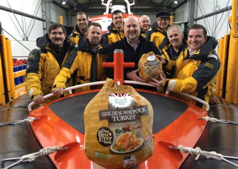 mpr boat donation caister lifeboat crew receive some tasty donations great
