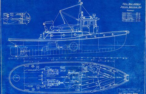 fishing boat blueprints blueprint boat wallpaper wall mural muralswallpaper co uk
