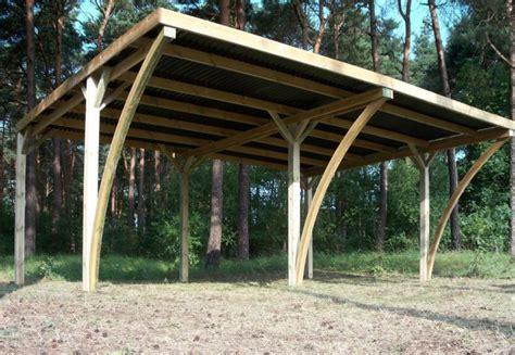 carport plus abri voiture 2 places en bois autoclave de 6 x 5 m au toit
