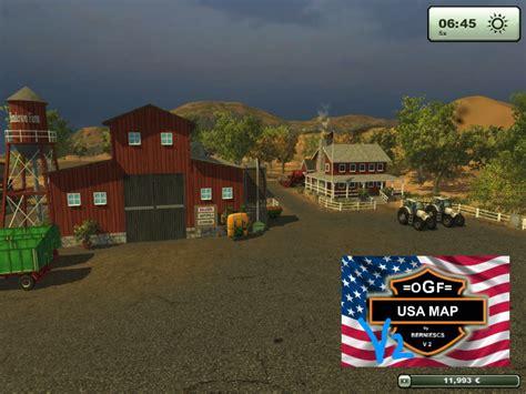 ogf usa map fs 2013 ogf usa map v 2 1 maps mod f 252 r farming simulator 2013