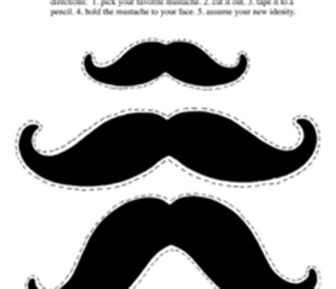 How To Make A Mustache Out Of Paper - collection 100 images by alufolia page 2