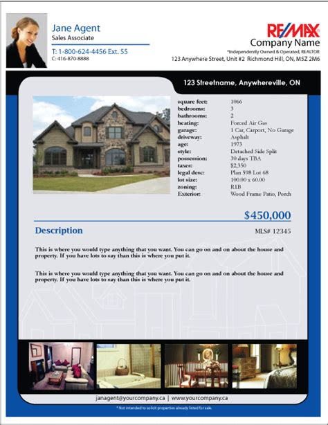 real estate listing sheet template printforlesscanada remax listing feature sheet templates
