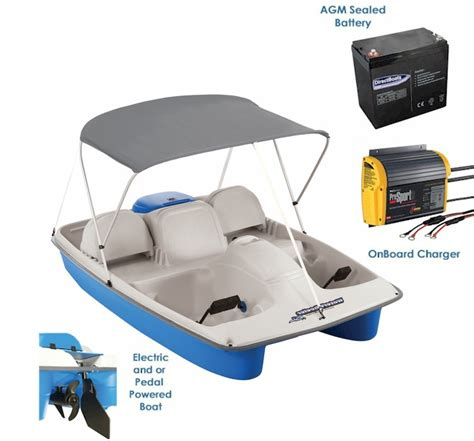 asl electric pedal boat water wheeler asl electric pedal boat package 2