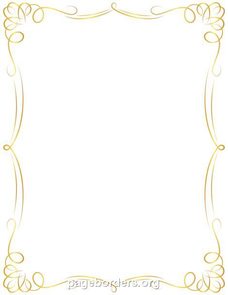 fancy gold border clipart png clipartsgram com